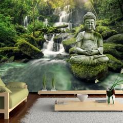 Selbstklebende Fototapete - Waterfall of Harmony