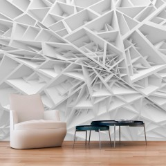 Selbstklebende Fototapete - White Spider's Web