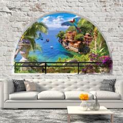 Selbstklebende Fototapete - Window in Paradise