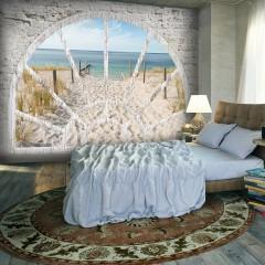 Selbstklebende Fototapete - Window View - Beach