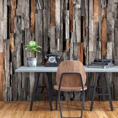 Basera® Selbstklebende Fototapete Holzmotiv f-C-0421-a-c, mit UV-Schutz