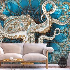 Selbstklebende Fototapete - Zen Octopus