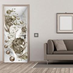 Artgeist Türtapete - Photo wallpaper - Bubble abstraction I