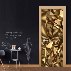 Artgeist Türtapete - Photo wallpaper - Golden Geometry I