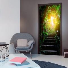 Artgeist Türtapete - Photo wallpaper - Stairs in the urban jungle I