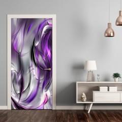 Artgeist Türtapete - Photo wallpaper – Purple abstraction I