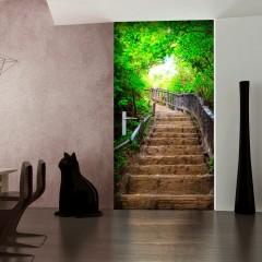 Artgeist Türtapete - Photo wallpaper – Stairs from nature I