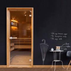 Artgeist Türtapete - Sauna