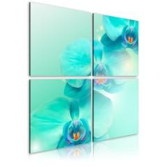 Artgeist Wandbild - Azurblaue Orchideen
