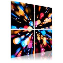 Artgeist Wandbild - Wettlauf der Lichter