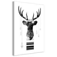 Artgeist Wandbild - Abstract Antlers (1 Part) Vertical