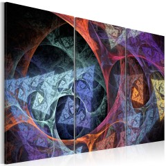 Artgeist Wandbild - Abstraktion in geheimnisvollen Farbtönen
