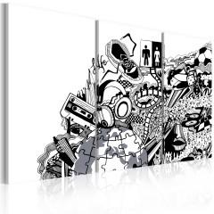 Artgeist Wandbild - Artistic mess - triptych
