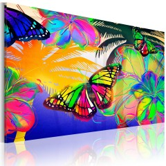 Artgeist Wandbild - Exotische Schmetterlinge