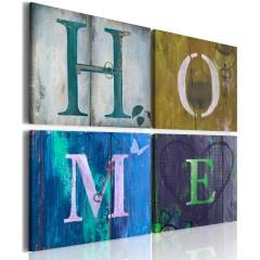 Artgeist Wandbild - Fühl dich Zuhause