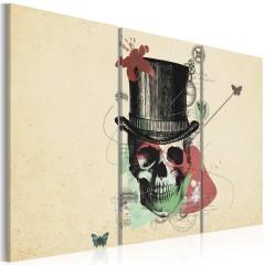 Artgeist Wandbild - Gentleman's skeleton