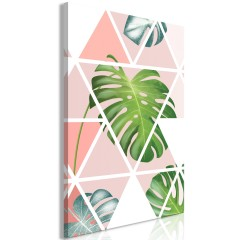 Artgeist Wandbild - Geometric Monstera (1 Part) Vertical