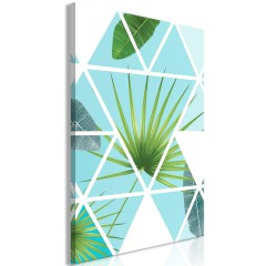 Artgeist Wandbild - Geometric Palm (1 Part) Vertical