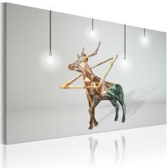 Artgeist Wandbild - Goldener Hirsch