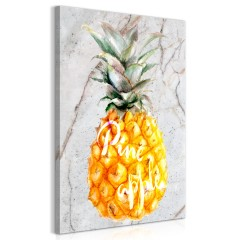 Artgeist Wandbild - Pineapple and Marble (1 Part) Vertical