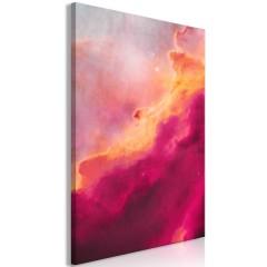 Artgeist Wandbild - Pink Nebula (1 Part) Vertical