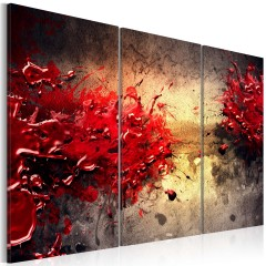Artgeist Wandbild - Roter Splash