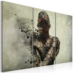 Artgeist Wandbild - The man of stone - triptych