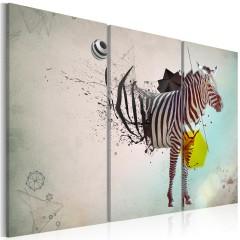 Artgeist Wandbild - Zebra - Abstrakt