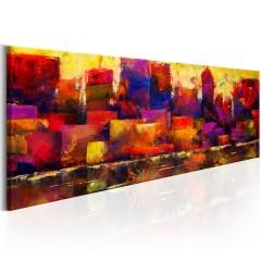 Artgeist Wandbild - Colourful City Skyline