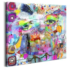 Artgeist Wandbild - Colourful Owl