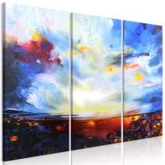 Artgeist Wandbild - Colourful Sky (3 Parts)