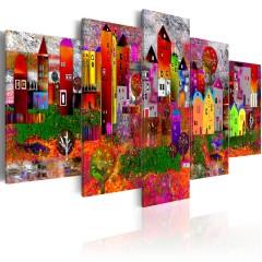 Artgeist Wandbild - Colourful Small Town