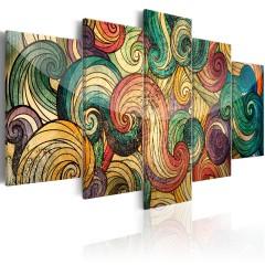 Artgeist Wandbild - Colourful Waves