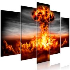 Artgeist Wandbild - Explosion (5 Parts) Wide