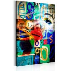 Artgeist Wandbild - Kuss der Moderne