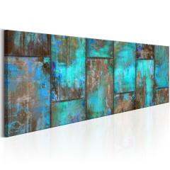 Artgeist Wandbild - Metal Mosaic: Blue