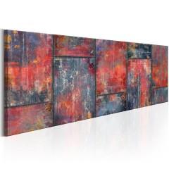 Artgeist Wandbild - Metal Mosaic: Red