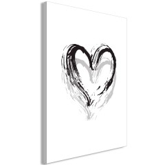 Artgeist Wandbild - Brush Heart (1 Part) Vertical