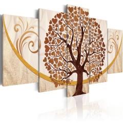 Artgeist Wandbild - Goldener Baum der Liebe