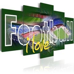 Artgeist Wandbild - I Love Football