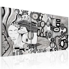 Artgeist Wandbild - Silver Kiss