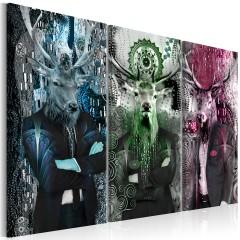 Artgeist Wandbild - Animal Trio (3 Parts) Colorful