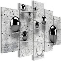 Artgeist Wandbild - Balls and Concrete (5 Parts) Wide