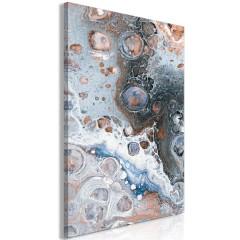 Artgeist Wandbild - Blue Sienna Marble (1 Part) Vertical