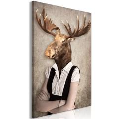 Artgeist Wandbild - Brainy Moose (1 Part) Vertical