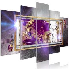 Artgeist Wandbild - Golden Reflection (5 Parts) Wide