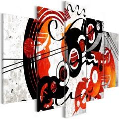 Artgeist Wandbild - Music Creations (5 Parts) Wide