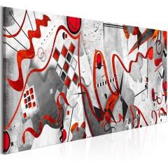 Artgeist Wandbild - Red Ribbons (1 Part) Wide