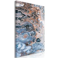 Artgeist Wandbild - Sienna Blue Marble (1 Part) Vertical