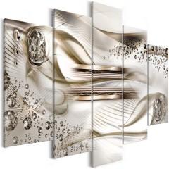 Artgeist Wandbild - Underwater Harp (5 Parts) Wide Brown